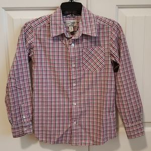 The Children's Place Long Sleeve Button Down M 7/8